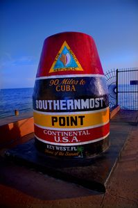 You are near the most photographed corner in Key West!