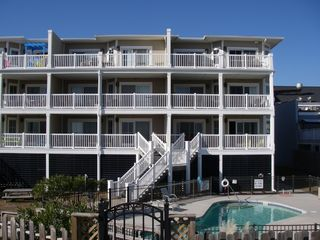 Isle of Palms condo photo - Your Private Balcony Stairway Down To Beach & Pool