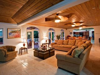 Cap Estate villa photo - View of Elegantly Furnished and Expansive Living room, Kitchen and Dining Area