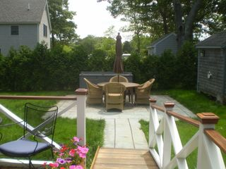 Oak Bluffs house photo - Backyard patio with wheel chair access