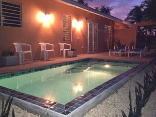 Vieques Island villa photo - The dipping pool is 41/2 feet deep 8 feet wide x 16 feet w/ a beach for lounging