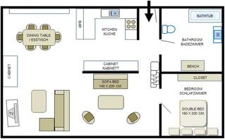Reykjavik apartment photo - Floorplan - size of floor is approx. 80 sqm.