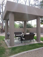 Scottsdale house photo - Modern Gazebo & Fire Pit