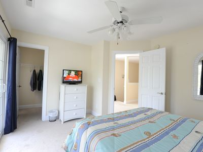 Garden City Beach house rental - Upstairs front bedroom with walk-in closet