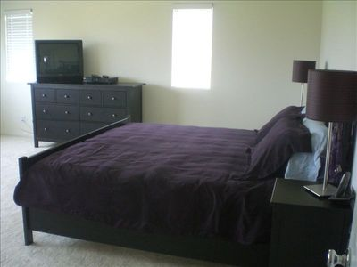 Master Bedroom with king sized bed, separate 5 piece ensuite, TV and DVD