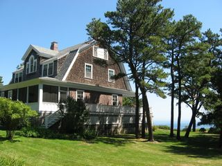 Cape Neddick house photo - Side/rear view - Screen porch and wrap around deck