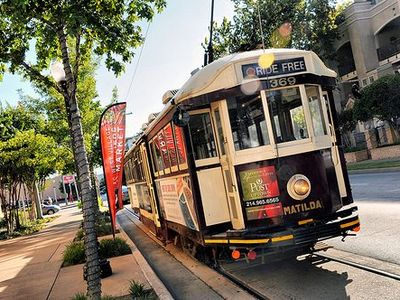 Forget your car! You can take the trolley anywhere you want to go in Uptown!