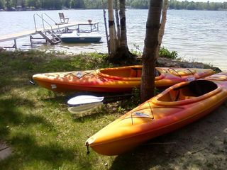 2 adult, 2 child kayaks, 5-person pedal boat, life jackets in all sizes - Interlochen house vacation rental photo