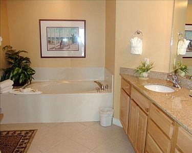 Master bathroom with jetted tub & separate walk-in shower