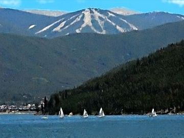 Beautiful Lake Dillon by Keystone offers many relaxing on-the-water activities.