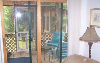 Charlevoix apartment photo - Executive Suite Screened in Porch with Hot Tub