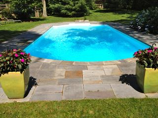 East Hampton house photo - bluestone patio around 20x40 heated pool