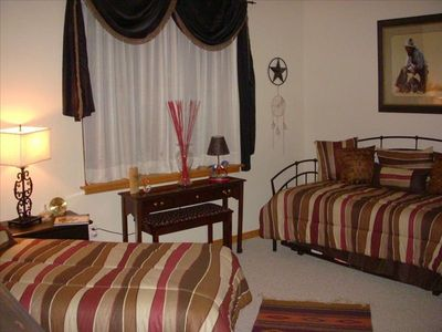 Third Bedroom features a single bed and a King Size trundle or as single bed.