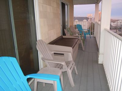Crescent Beach villa rental - Large Balcony area to enjoy the beautiful ocean and breeze.
