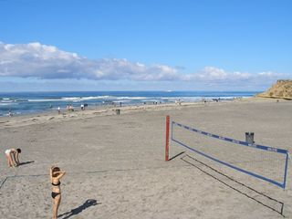 Volley ball on the beach