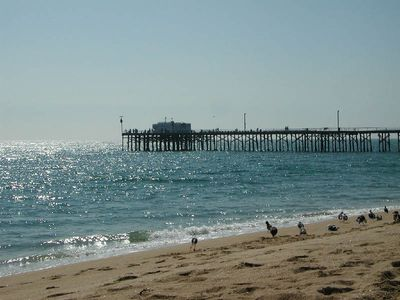 The Balboa Pier is a ferry ride away