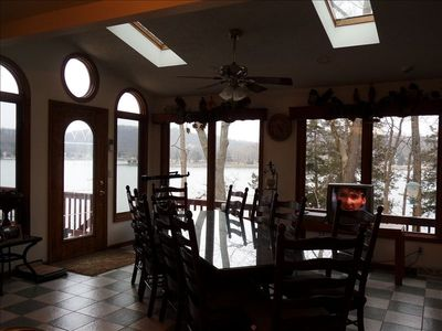 1st Dining room area off kitchen, with lots of Beautiful Lakeviews