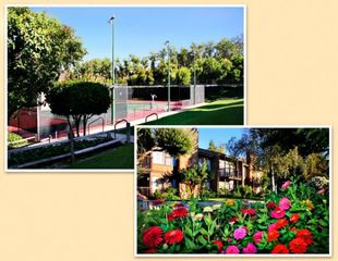 Ramona condo photo - Tennis Courts and Exterior of Units at the San Diego Country Estates