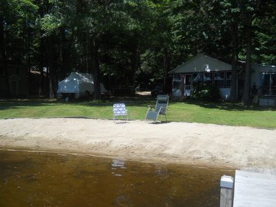 Sanbornton cottage rental - Perfect beach for small children
