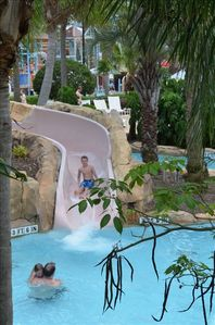 Water slide at water park