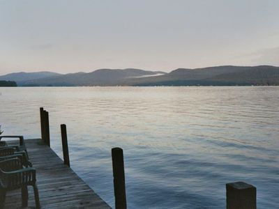 Pilot Knob cabin rental - View from Dock of Lake