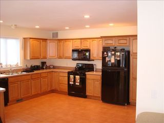 Laconia house photo - Large, open kitchen completely outfitted