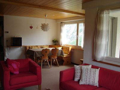 Spacious chalet apartment with outstanding views.