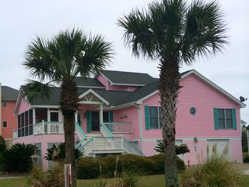 "Harbor Island house rental - Welcome to our 5BR/5 BA ""Pink House"" In Paradise. Awesome View ALMOST @ Beach"