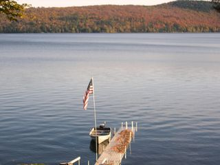 Schroon Lake chalet photo - View from the Chalet deck after trees were cut down