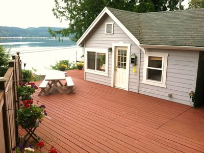 Sea Cliff Cottage - with private beach, hot tub, and lots of deck space!