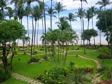 hotel grounds near beach