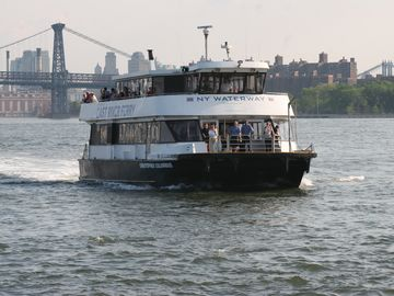 East River Ferry- takes you in 15min to Wall Street or near The Brooklyn Bridge