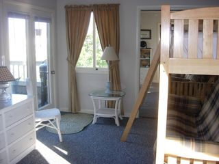 Vacation Homes in Ocean City condo photo - French Doors to deck and Full Sleeper with Twin