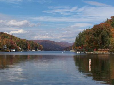Asheville cabin rental - Go boating on nearby Lake Lure.