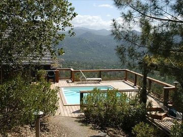 Ahwahnee chalet rental - ...take a dip in the pool w/ the mountains beyond...