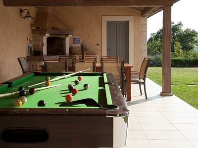 Billiard, covered terrace, BBQ