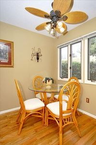 Breakfast room adjoins kitchen