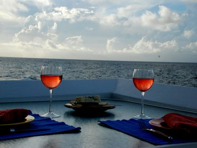 Romantic drinks for two at the Villa