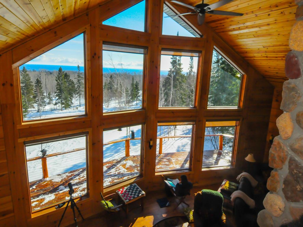 Lutsen Lookout Is A Large Log Cabin With Vrbo