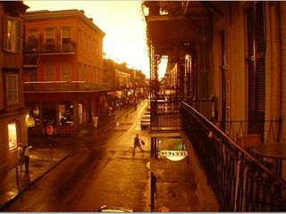 New Orleans condo photo - view of our street at dusk