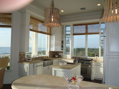 Kitchen overlooking ocean and preserve