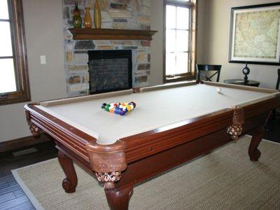Full size pool table in den area. Luxury  Midway Utah Vacation Rental