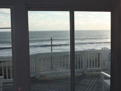 Ocean View and Deck, from Living Room