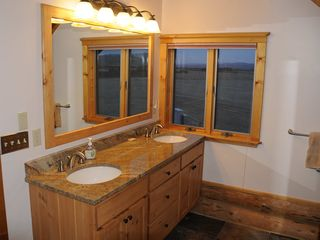 Bozeman house photo - Master bath dual sinks