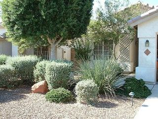 Front door, desert landscape, private entrance. - Phoenix house vacation rental photo