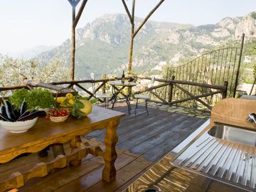 PRIVATE TERRACE DELUXE ROOM AND THE OUTDOOR KITCHEN