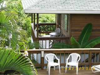 Roatan house photo - Casita Balcony from pool area