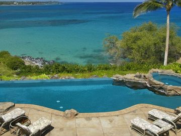 Unique oceanfront home at beautiful Waialea Bay