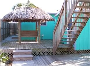 Deck and Tiki hut swing
