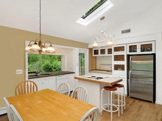 East Hampton house photo - Large open fully stocked kitchen with slider to outside dining deck.